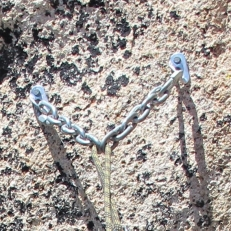 Good: Clean rappel chain anchor