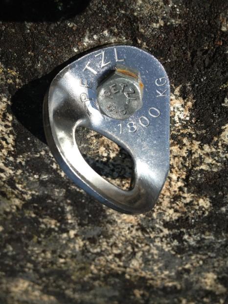 BAD: Petzl self-drive caving anchor bolt (8.8mm) with Petzl hanger.