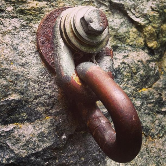 Rusty link bolt